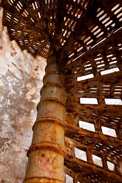 Although the lighthouse in Culebrita is on a severe state of disrepair, the tower stairs still stand. Culebrita, PR<br /> <br /> PR-110725-0142