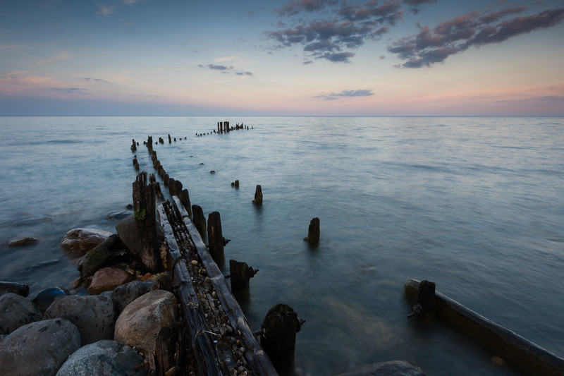 old Pier and Dusk