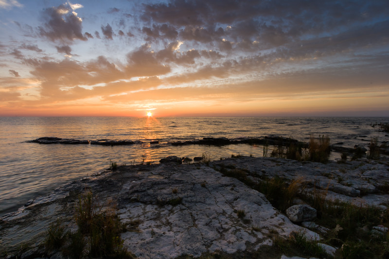 Cana Island sunrise. Cana Island, WI<br /> <br /> WI-080901-0013