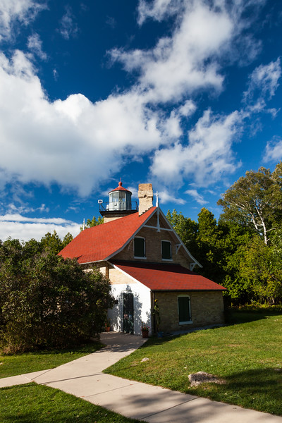 Eagle Bluff Light House in late summer. Peninsula State Park, MI<br /> <br /> WI-100904-0039