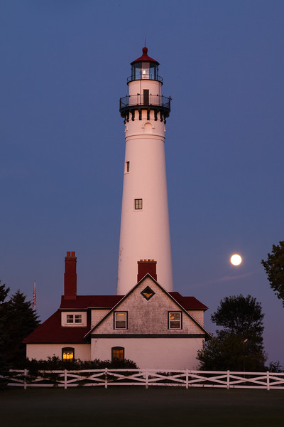Wind Point Moonrise