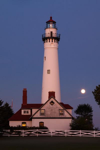 Wind Point Moonrise