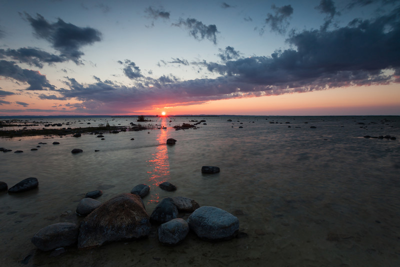 Sunset at Old Mission Point Peninsula, MI<br /> <br /> MI-100728-0210
