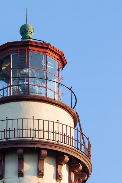 Afternoon light shines on the Grosse Point Lighthouse tower. Evanston, IL<br /> <br /> IL-090711-0024