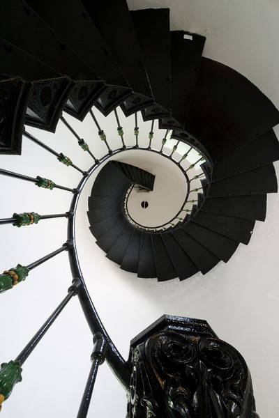 Lighthouse spiral staircase. Fajardo, PR<br /> <br /> PR-070802-0047