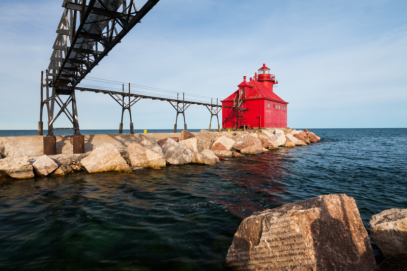 Sturgeon Bay Pierhead Light. Sturgeon Bay, WI<br /> <br /> WI-100515-0242