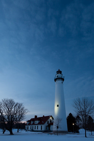 Wind Point Lighthouse at Dusk