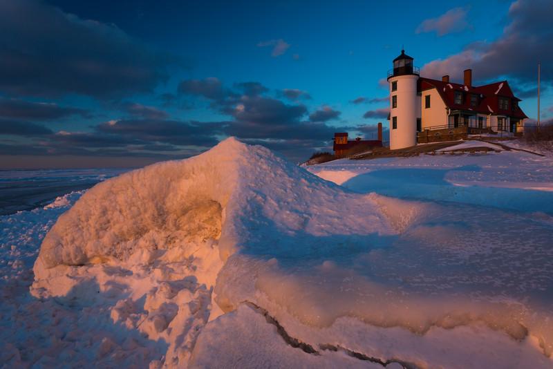 Point Betsie Frozen Sunset I
