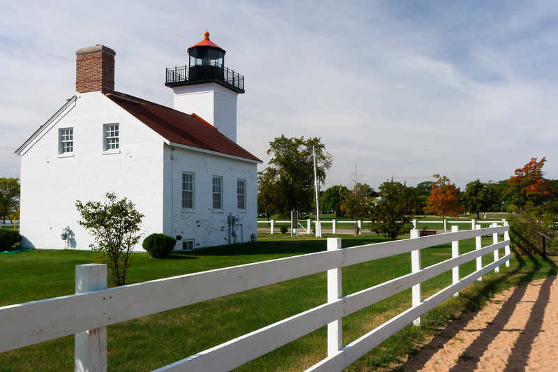Sand Point Lighthouse. Escanaba, MI<br /> <br /> MI-080925-0037