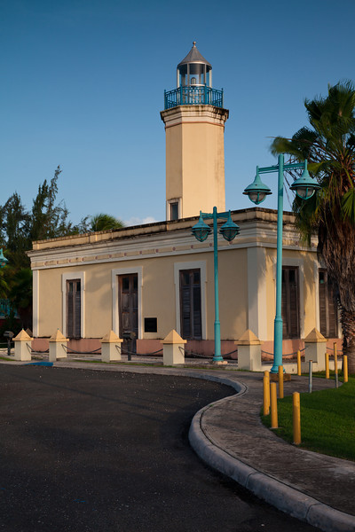 The Punta Figuras Lighthouse was completed in 1893 and remained in operation until 1938. During WWII the building was used as a lookout. In 2002/2003, affter many years of neglect and vandalism, the building was restored.  Arroyo, PR<br /> <br /> PR-110801-0079