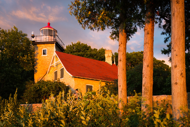 Eagle Bluff Lighthouse Sunset