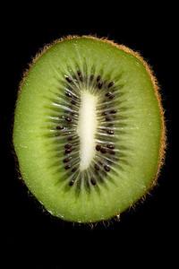 Cross section of a Kiwifruit.