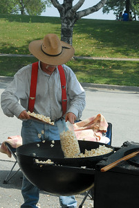 Kettle corn Cowboy at the Farmer's Market