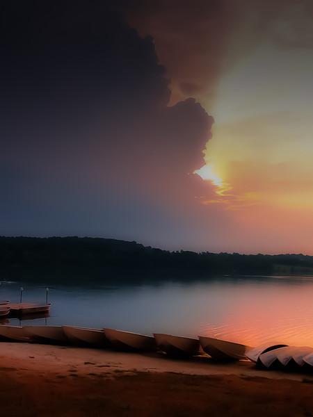Marsh Creek Evening Storm