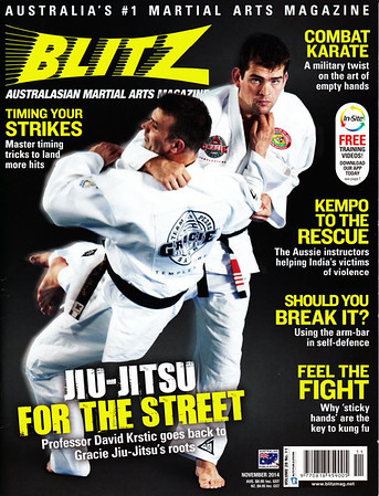 Shihan Martin Day Featured in Blitz Martial Arts Magazine & In The Newspapers