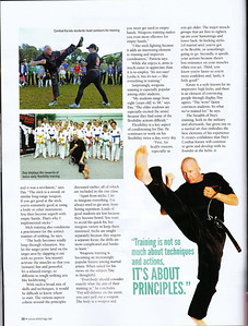Shihan Martin Day of Combat Karate Noosa Featured in Blitz Martial Arts magazine November 2014
