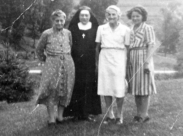 Mary (Tschumper) Von Arx (I always knew her as just Tanta), Sister Joachim (Sophie Von Arx, Mary's daughter, Mary Von Arx (niece to Mary Tschumper-Von Arx), and Vernie Von Arx