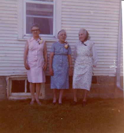 Irma Langen, Tillie Lorenz, and Mary Von Arx.