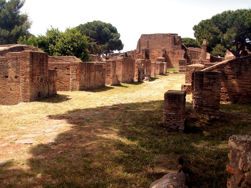 One of the side roads of Ostia Antica.