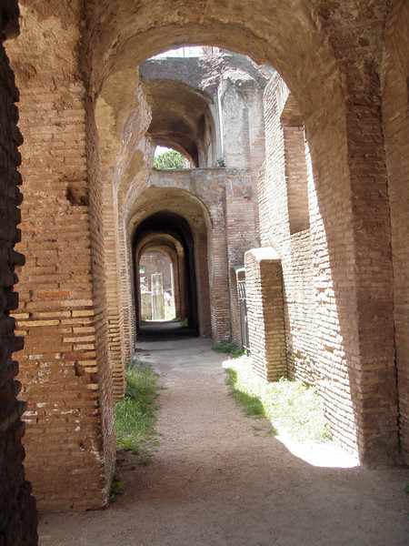 What was really interesting about Ostia Antica was that one could just walk through the ruins -- very few areas were fenced off.