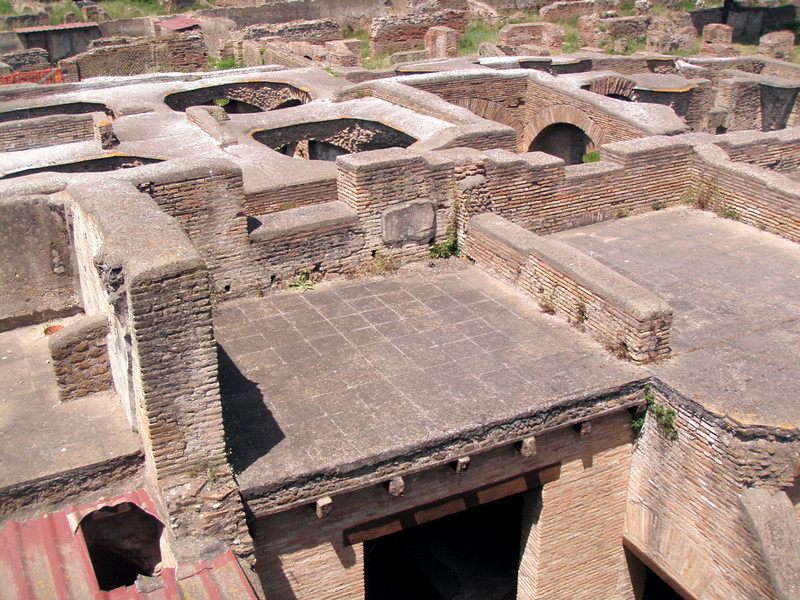 The buildings at Ostia Antica were multi-storied and extensive.