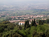 Looking out from above the hills of Frascati, a small town near Rome best known for its local wine.
