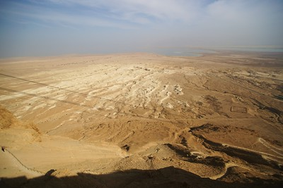 View down from Masada toward Dead Sea, Israel Please don`t use these images on website, blogs or other media without my explicit permission