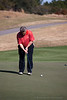 John Brown hits a putt on the Heathland course at the Legends complex during the 2011 Maseratti