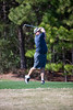 Bob Dimarzio tees off on the Heathland course at the Legends complex during the 2011 Maseratti
