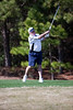 Keith Talbert tees off on the Heathland course at the Legends complex during the 2011 Maseratti