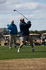 Bill Comer tees off at the Legends Parkland course