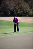 Brian Comer putts onto the green on the Heathland course at the Legends complex during the 2011 Maseratti