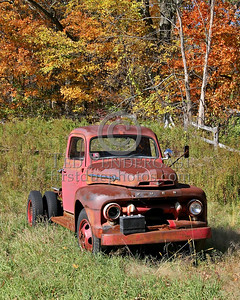 Old Truck - Color - Rt.62 - Princeton, Mass.