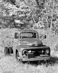 Old Truck - B&W - Rt.62 - Princeton, Mass.