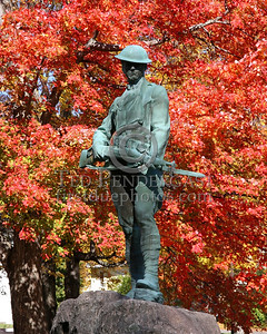World War I Memorial Statue - Town Center - Rt.62 - Barre, Mass.
