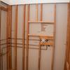 Shower plumbing rough-in  complete