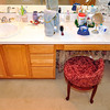 Wendy's vanity before. Wendy is the designer of the renovation.