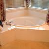 Oval corner tub, before the renovation.