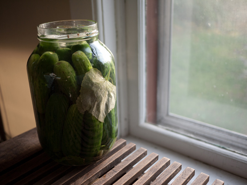I made brine pickles. Some have gone moldy because they floated to the surface.