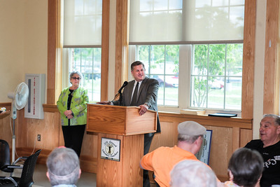 State rep Mathew Muratore thanks the COA volunteers for their efforts at the Volunteer Recognition Luncheon. Wicked Local Photo/Denise Maccaferri