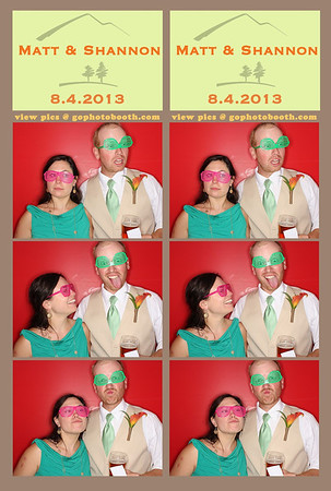 Matt & Shannon Breck photo booth 8/4/13