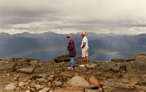 Matthew and his dad over Jasper