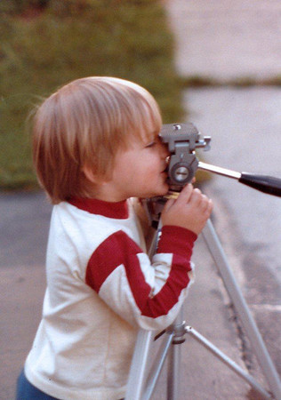 Matthew is interested in photography at a young age