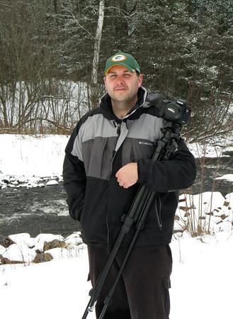 Matthew posing in the winter