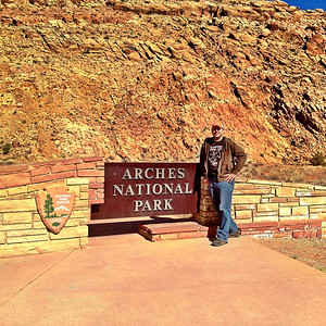 Matthew at Arches National Park