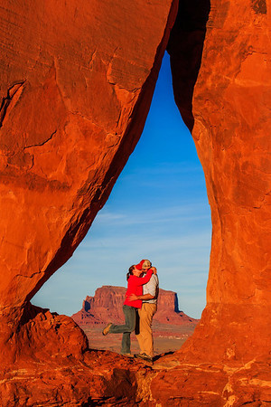 Matthew and his wife, Robin, at Teardrop Arch
