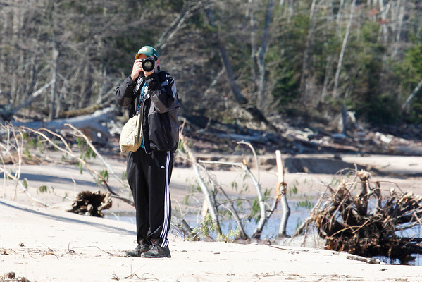 Matthew on the Lake Superior Shoreline