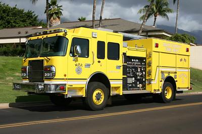 Maui Hawaii - Engine 3 in Lahania.  2008 Spartan Gladiator/SuperVac  1500/780/30A.