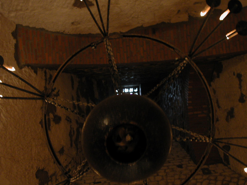 Il lampadario dell'Oenotheque