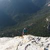 Summiting Tahquitz rock.